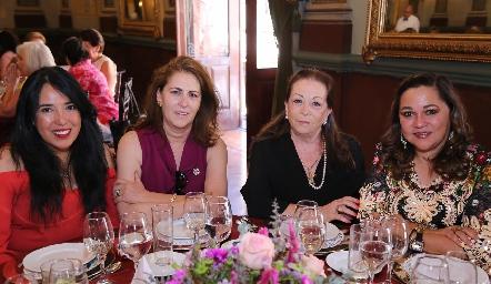 Carolina Ortiz, Mayu Villarreal, Georgina López y Gaby de Noyola.