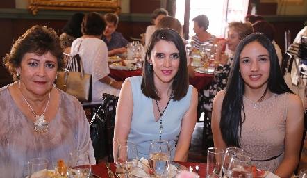 Sara Rodríguez, Sara Martínez y Ximena.