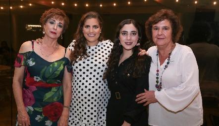 Beatriz Dauajare, Danitza Lozano, Isabella Zollino y Ana María Dauajare.