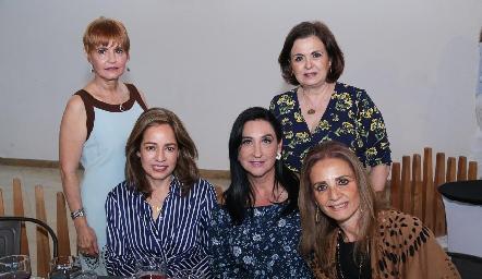 Isa Cabrera, Ana Luisa Acosta, Blanca de Cantú, Dora Cabrera y Beatriz Rngel.