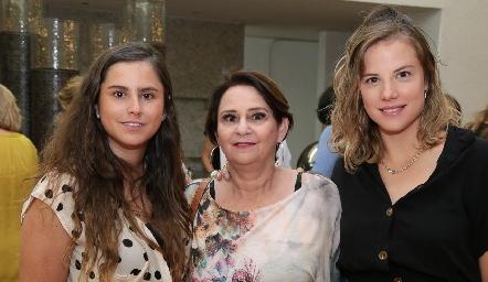 Gabriela Franco, Gabriela del Pozo y Monze Martell.