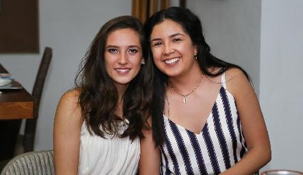 Valeria Rangel y Paola Martínez.