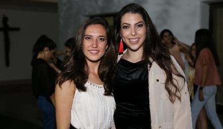 Valeria Rangel y Ángela Gallardo.