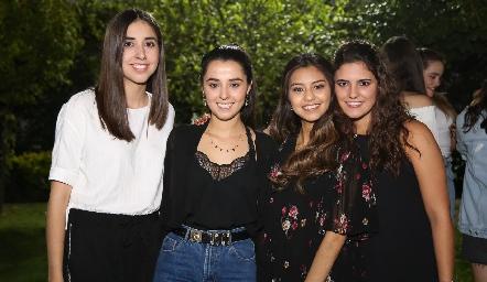 Andrea de la Torre, Brenda Aguilar, Bety Rodríguez y María Dolores Gómez.