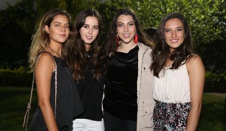 Marisa Anaya, Renata Castillo, Ángela Gallardo y Valeria Rangel.
