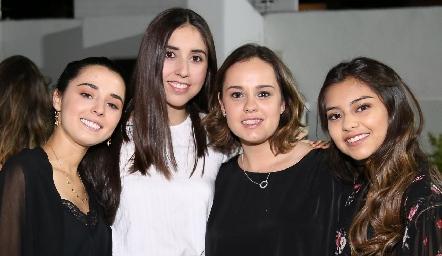 Brenda Aguilar, Andrea de la Torre, Alejandra Martínez y Bety Rodríguez.