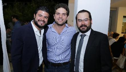 Federico Díaz Infante con sus amigos.