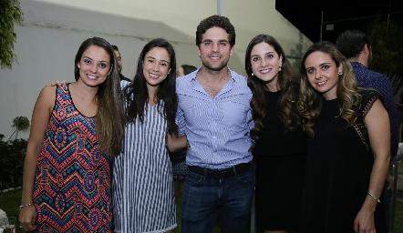 Paloma Díaz Infante, Tere Mancilla, Federico, Miriam y Ana Gabriela Díaz Infante.