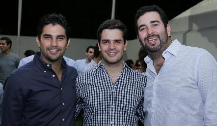 José Luis Leiva, Luis Torres y Fernando Domínguez .