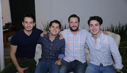Enrique Díaz Infante, Arturo Hernández, Rodrigo Planas y Álvaro Leñero.