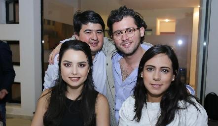 Rolando Domínguez, Abraham Salgado, Gaby Díaz Infante y María Berrueta.
