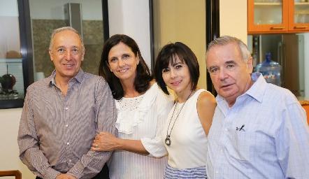 Federico Díaz Infante, Gaby Meade, Tere y Alejandro Mancilla.