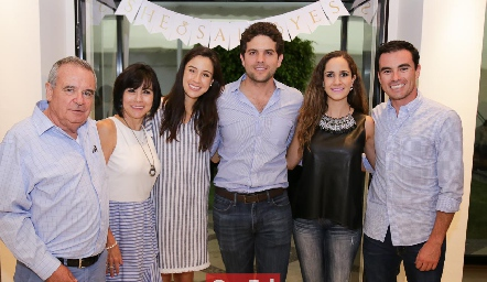 Alejandro, Tere y Tere Mancilla, Federico Díaz Infante, Dani Mina y Alejandro Mancilla.