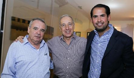 Alejandro Mancilla, Federico Díaz Infante y Rafael Araiza.