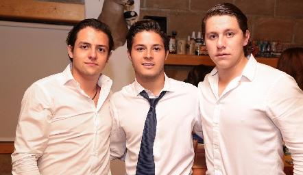 Sebastián Díaz de León, Alejandro Stevens y Mauricio Ojeda.