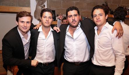Santiago Corripio, Alejandro Stevens, Emilio Gómez y Sebastián Díaz de León.