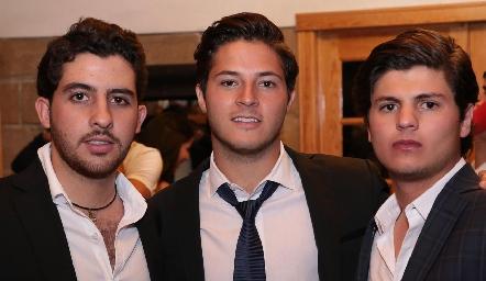 Max Gómez, Alejandro Stevens y Emilio Cabrera.