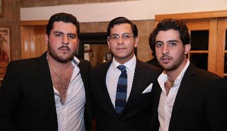 Emilio Gómez, Rodrigo Villasana y Max Gómez.