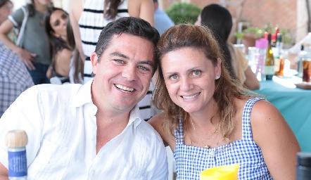 Luis Manuel Abella y Daniela Alcalde.