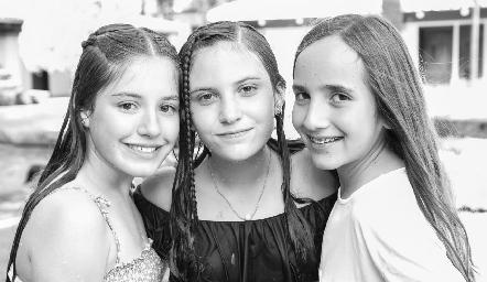 Anna Astrid, Lucciana y Cristy.