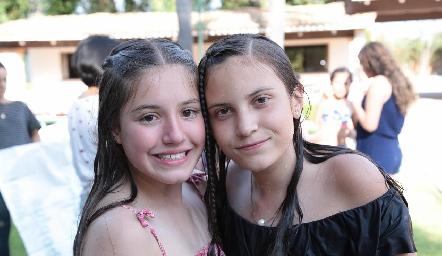 Anna Astrid y Lucciana.