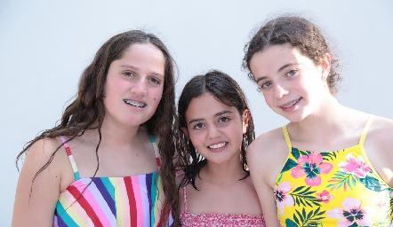 Kamila, Mía y Ana Sofi.