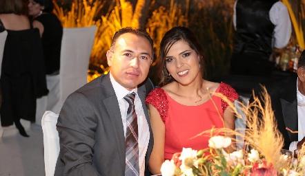 Christian Barbosa y Pilar Allende.