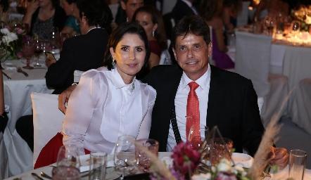 Adriana Hernández y Rafael Yamín.