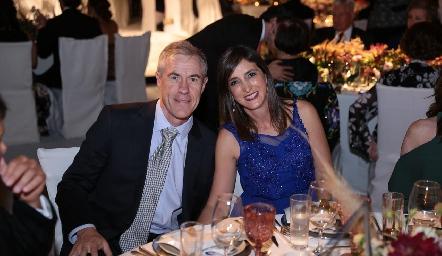 Luis González e Ingrid Rosas.