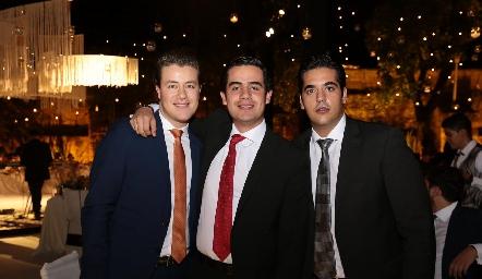 Gastón Lozano, Rodolfo Ortega y José Antonio Alonso Motilla.