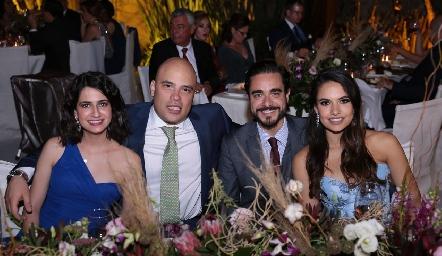 Mónica Medlich, Germán Sotomayor, José Luis Villaseñor y Marcela Díaz Infante.