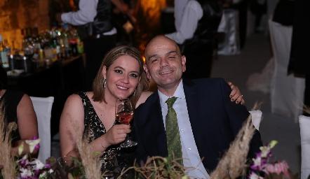 Deliz Cabrera y Pablo Soberón.