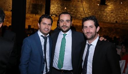 José Ramón Barragán, Sergio Madrigal y Santiago López.