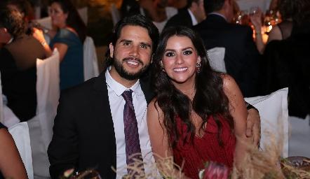 Rodrigo Mercado y Vicky Álvarez.