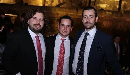 Pablo Fernández, Agustín Soberón y Pedro.
