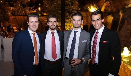 Gastón Lozano, Gerardo Gómez, José Luis Ortega y Jorge González.
