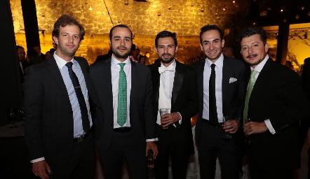 Alejandro Abud, Sergio Madrigal, Andrés Allende, Francisco  Padilla y Horacio Lizaola.