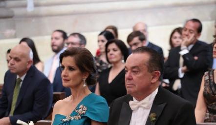 Maite Yamín y Agustín Soberón, papás de la novia.