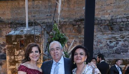 Patricia Silos, Rolando Domínguez y Cape Silos.