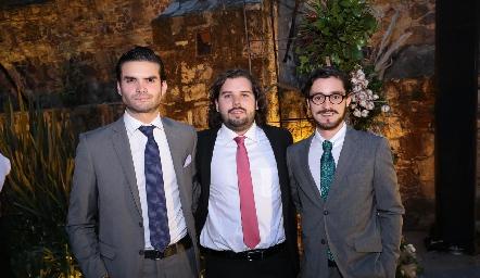 José Luis Ortega, Pablo Fernández y Javier Rodríguez.