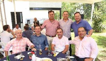 Tomás Alcalde, Federico Alcalde, Héctor Gutiérrez, Javier Alcalde, Octavio Aguillón, Héctor Mendizábal y Óscar González.