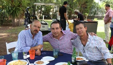 Ricardo Meade, Alejandro Elizondo y Toño Mendizábal.