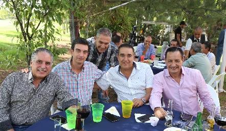 Felipe Palau, Óscar Silos, Manolo Abud, Óscar Villarreal y Alejandro Díaz de León.