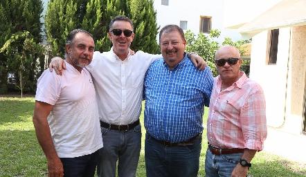 Javier Alcalde, Jorge Mendizábal, Patricio Mendizábal y Tomás Alcalde.