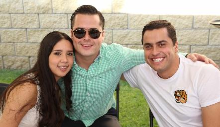 Ale Negrete, Pato Nieto y Omar Díaz.