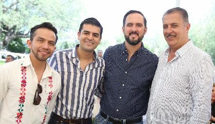 Gallo Robledo, Ricardo Villarreal, Pepe Toño y Rolando Hervert.