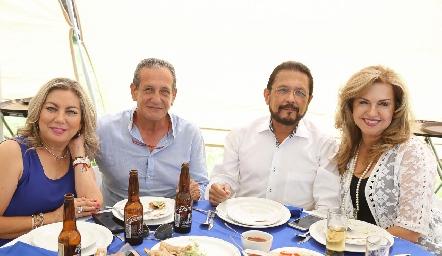 Fanny Pozos, Alberto, Toño Acosta y Zulema Sánchez.
