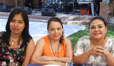 Lucero Espinoza, Teresa Montaño, y Adriana Reséndiz.