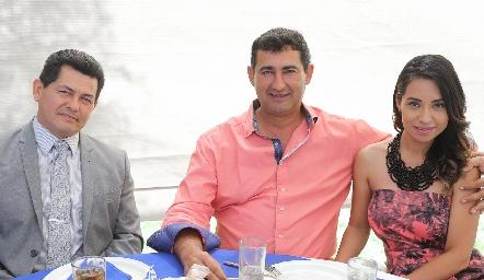 Héctor Vargas, Odilón González y Sinaí Medina.