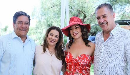 Marco Antonio Gama, Maru Jacobo, Marilú Acosta y Rolando Hervert.
